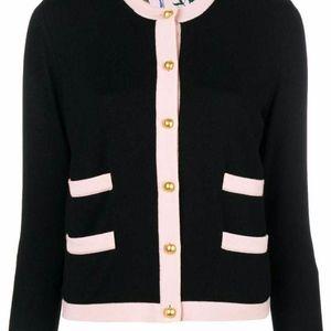 Tory Burch Kendra Cardigan Sweater Wool Navy NWT